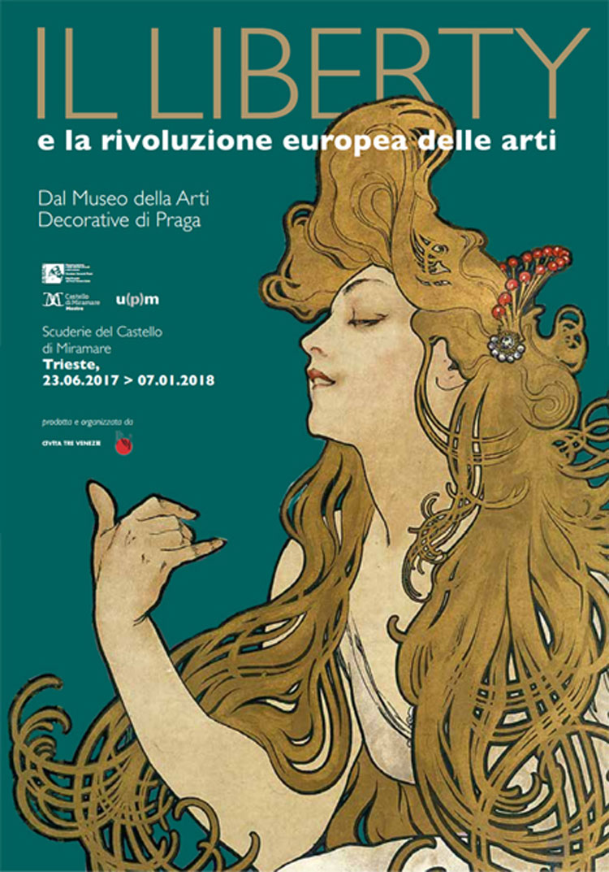 Locandina mostra Liberty a Trieste