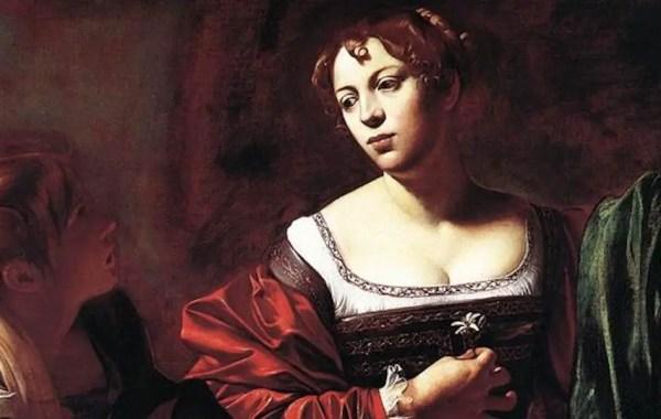 Caravaggio, Marta e Maria Maddalena (dettaglio)