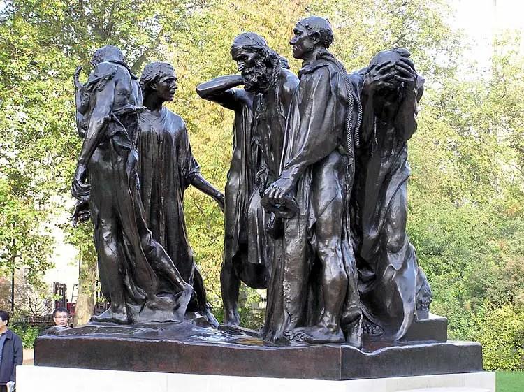 Auguste Rodin, I borghesi di Calais, 1884-86, Musée Rodin, Parigi