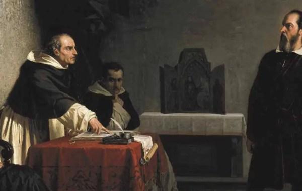 Galileo di fronte al tribunale dell'Inquisizione (dettaglio)