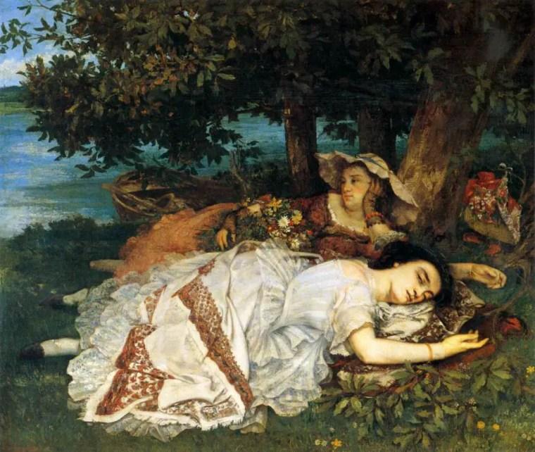 Gustave_Courbet_signorine-riva-senna_vita_opere_riassunto_Due-Minuti-Arte