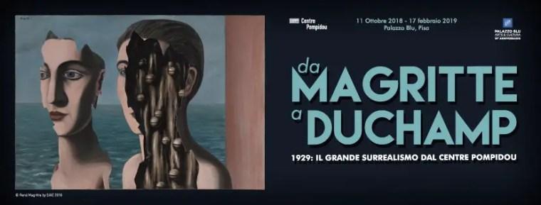 Da Magritte a Duchamp, surrealisti, mostra a Pisa