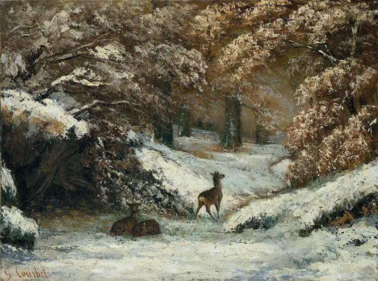 Gustave_Courbet_rifugio-caprioli-inverno_mostra_Ferrara_due-minuti-di-arte