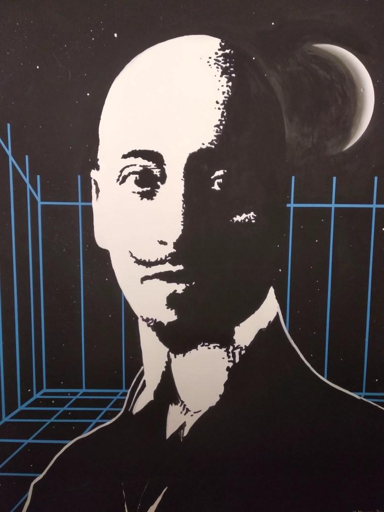 Gabriele D'Annunzio, in un'opera di Vincenzo Maugeri del 1961