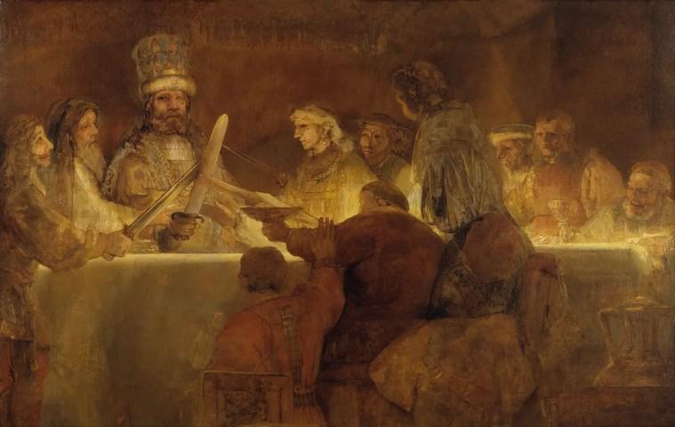 Rembrandt, Giuramento dei Batavi (o Congiura di Giulio Civile), 1661-1662, Nationalmuseum, Stoccolma