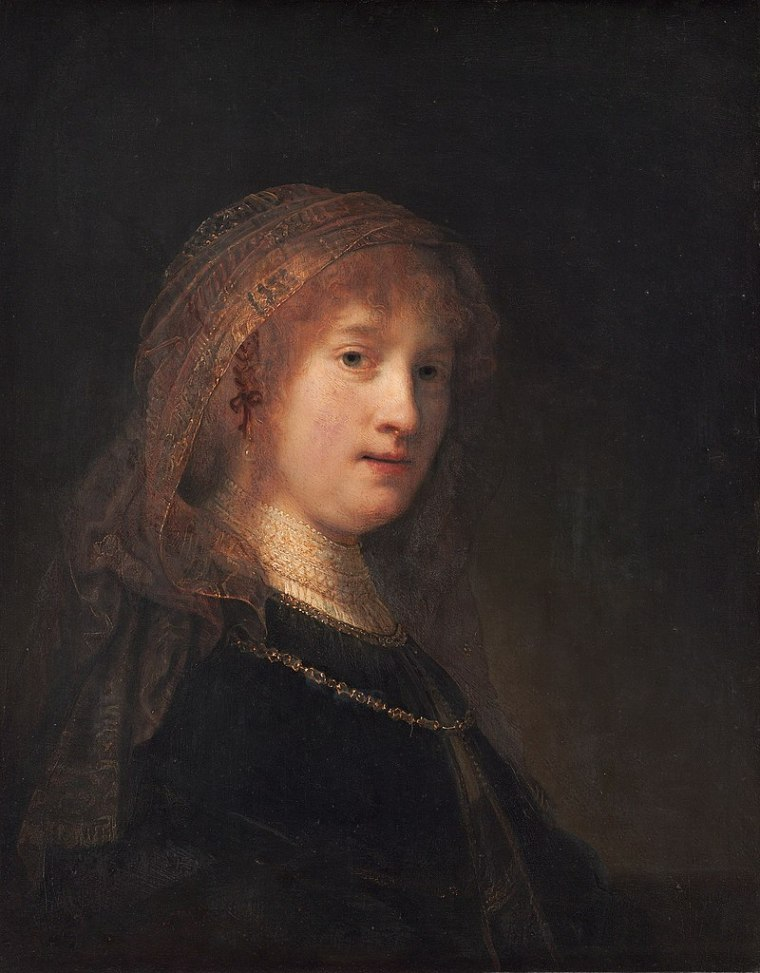 Rembrandt, Ritratto di Saskia van Uylenburgh, ca. 1635.