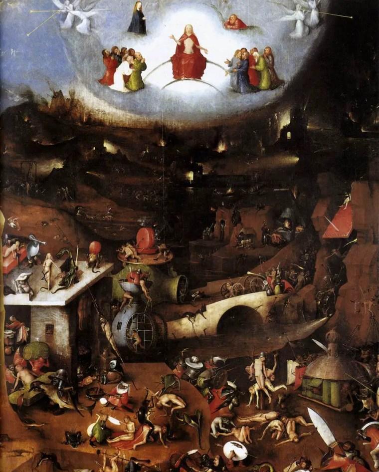 Hieronymus Bosch, Pannello centrale del Trittico del Giudizio di Vienna, 1482 circa, Accademia di belle arti, Vienna