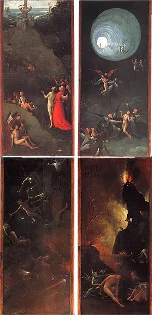 Hieronymus Bosch, Quattro visioni dell'Aldilà, 1500-1503 circa, Gallerie dell'Accademia, Venezi