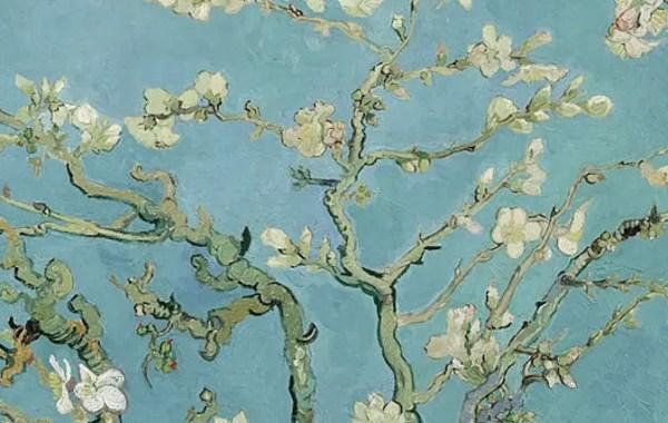 Van Gogh, Ramo di mandorlo in fiore (dettaglio)