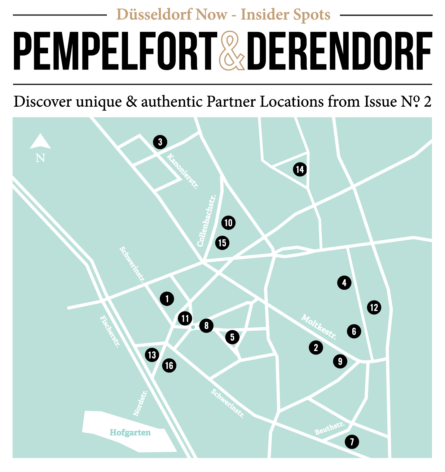 Pempelfort & Derendorf Map Issue No 2 - Düsseldorf Now - Düsseldorf on