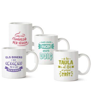 Colección completa de tazas refranes valencianos II