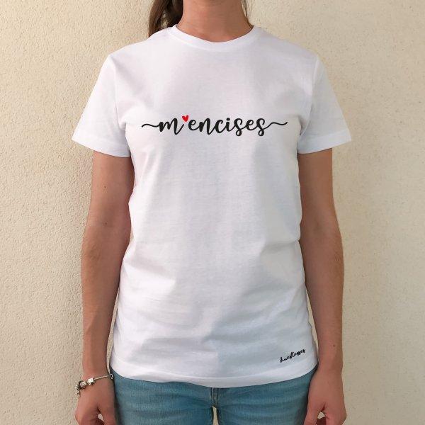 camiseta m'encises blanca