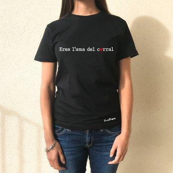 camiseta negra eres l'ama del corral