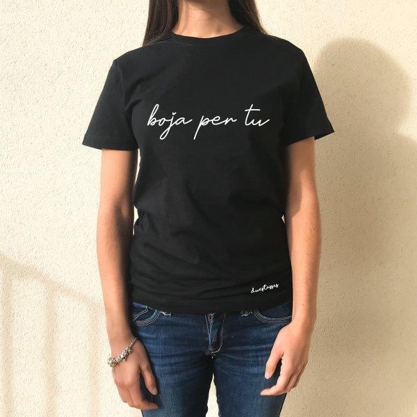 camiseta negra boja per tu