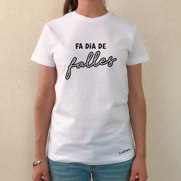 camiseta blanca chica fa dia de falles