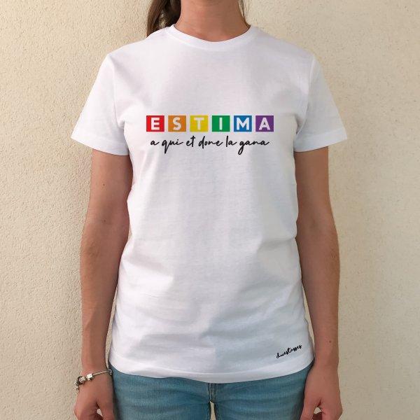 camiseta blanca chica estima a qui et done la gana
