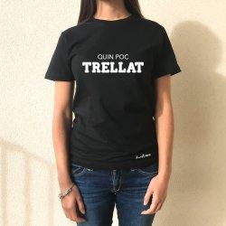 camiseta chica negra quin poc trellat