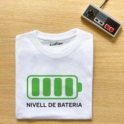 camiseta infantil blanca bateria carregada