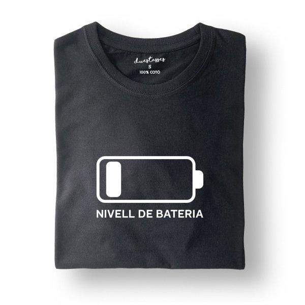 camiseta negra bateria descarregada