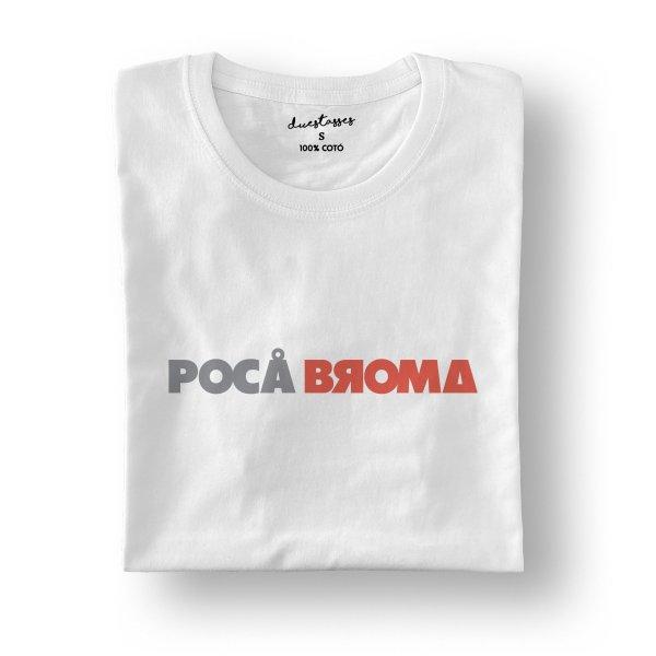 camiseta blanca poca broma