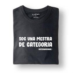 camiseta negra soc una mestra de categoria