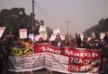 DUTA Organised Protest March Demanding Regularisation Of Ad Hoc Teachers