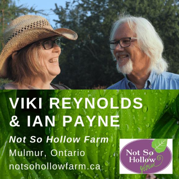 Ian Payne and Viki Reynolds of Not So Hollow Farm