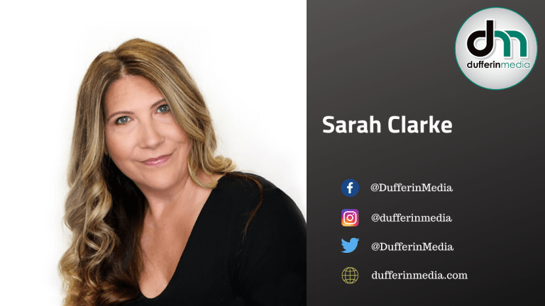 This is a picture of Sarah Clarke, the founder of Dufferin Media.