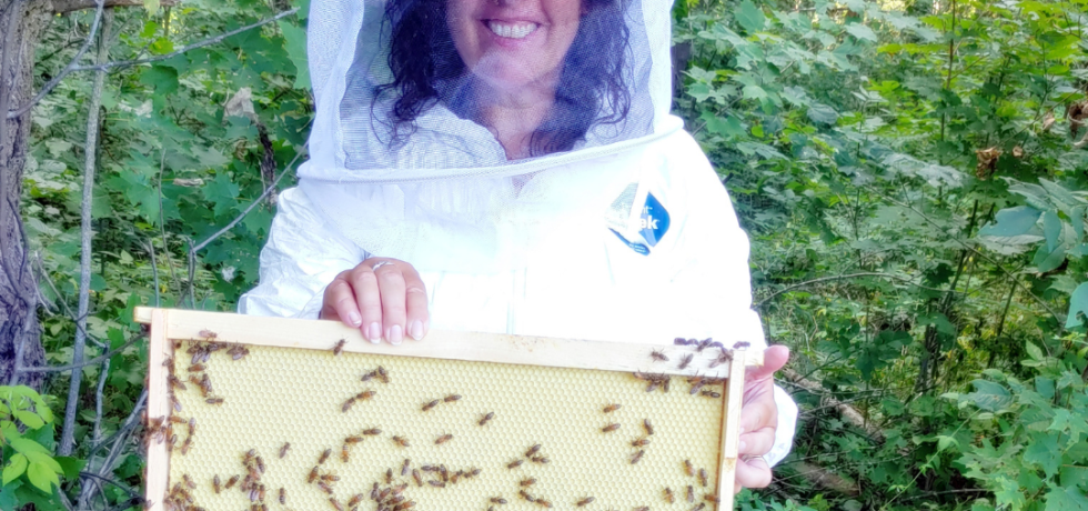 Karen Brown All Abuzz with her bees