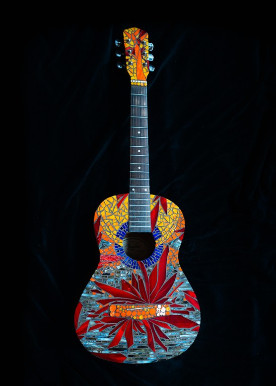Fire and Ice Guitar by MaryLou Hurley