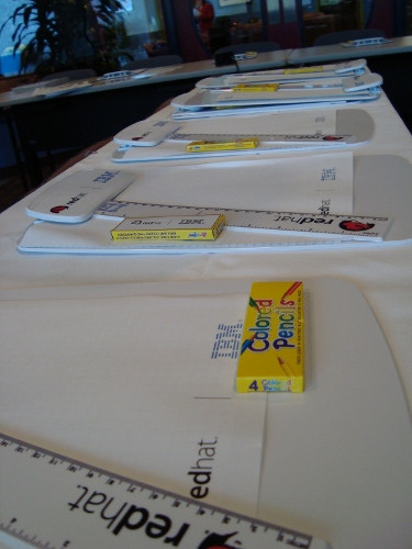 Photo of student materials packets