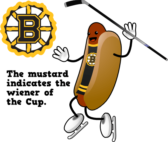 The mustard indicates the weiner.