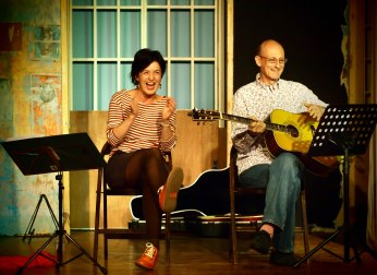 This is one of a series of great shots of Ed and Jeff and captured what was a fab fun night and the last at the Methodist Hall