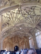 The entrance room at the Bodleian Library before we began our tour.