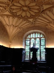 The classroom space within the Bodleian.
