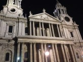 St.Paul's at night. This is also where you enter the Cathedral