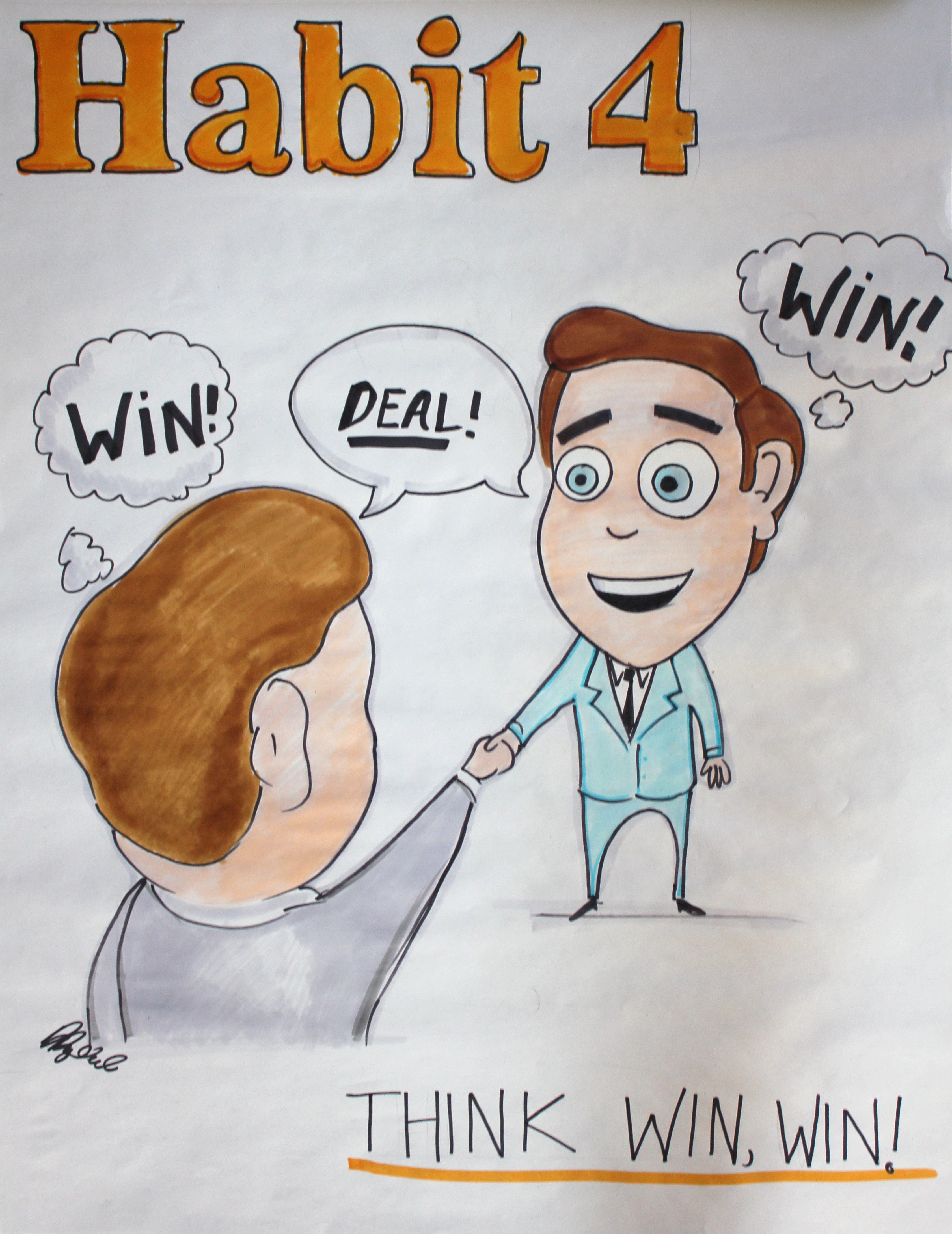 Habit 4 Think Win Win The Seven Habits Of Successful People Sketches By Dugdale Designs