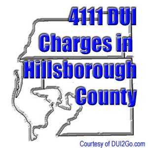 Which county has the most DUI charges?
