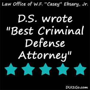 Casey Ebsary is one of the best criminal defense attorneys in Florida. He has expertise in DUI and all kinds of criminal matters.