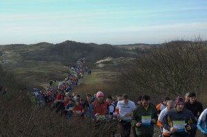 11 januari 2009: de halve marathon van Egmond. Foto: Rolf Roos