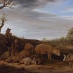 Paulus Potter, Landschap met varkenshoeder en kudde