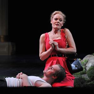 Jussi Myllys als Tom Rakewell und Anke Krabbe als Anne Trulove, Foto: Hans Jörg Michel