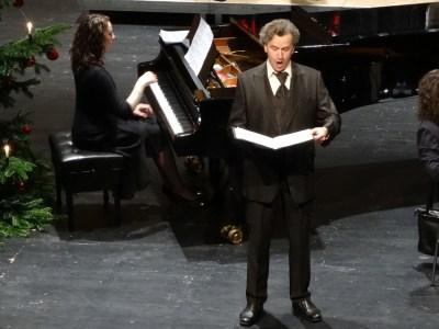 Weihnachtskonzert 2014 der Jubilaren-Vereinigung ThyssenKrupp mit Barition Franz Preihs und der Pianistin Cécile Tallec. Foto: Petra Grünendahl.