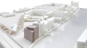 Abbildung: Erweiterung MKM Museum Küppersmühle, Duisburg, Modellfoto, © Herzog & de Meuron.