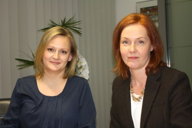 Ein erfolgreiches Tandem: Laura Zimmermann (l.) und Pia Salonen (r.). Foto: Unternehmerverband.
