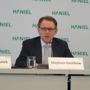 Bilanzpressekonferenz 2016 bei Haniel: Stephan Gemkow (Vorstandsvorsitzender). Foto: Petra Grünendahl.