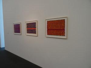 Rolf-Gunter Dienst: Mein Gedicht heißt Farbe im MKM Museum Küppersmühle für Moderne Kunst in Duisburg: das Frühwerk 1962-63 Gouache auf Leinwand. Foto: Petra Grünendahl,