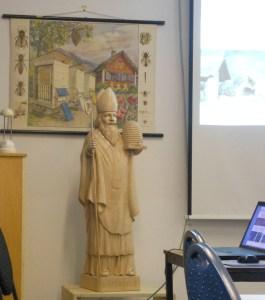 Der heilige Ambrosius ist Schutzpatron der Imker und der Bienen. Foto: Petra Grünendahl.