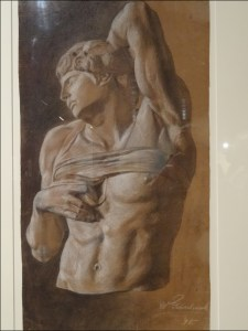 """Aus Lehmbrucks Frühwerk: Studie nach Michelangelos """"Sklaven"""" (1898). Foto: Petra Grünendahl"""