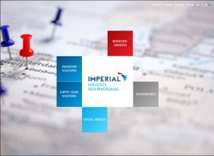 Marken-Auftritt von Imperial: die neu gestaltete Homepage unter www.imperial-international.com. Quelle: Screenshot.